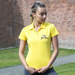 Gym Wear Polo Shirt Girlie cool polo Gym Kitty Fitness Training, Yoga