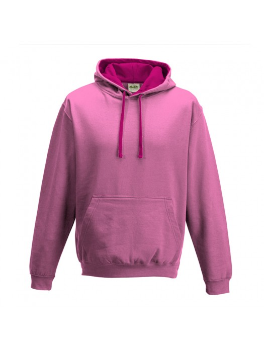 contrast Candyfloss Pink/Hot Pink Hoodie