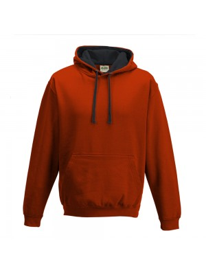 contrast Fire Red/ Jet Black Hoodie