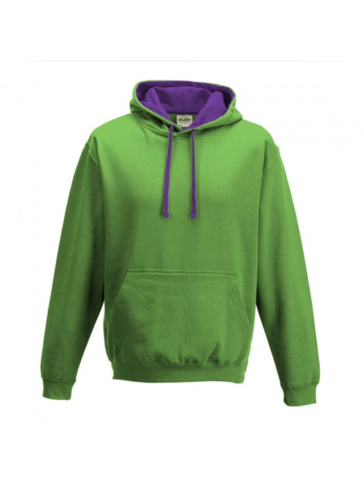 contrast Lime Green/Magenta Magic Hoodie