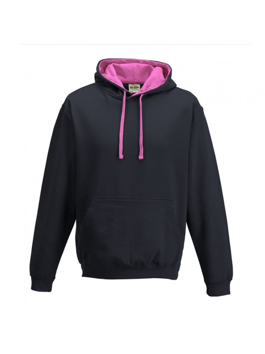 contrast Oxford Navy / Candyfloss Pink Hoodie