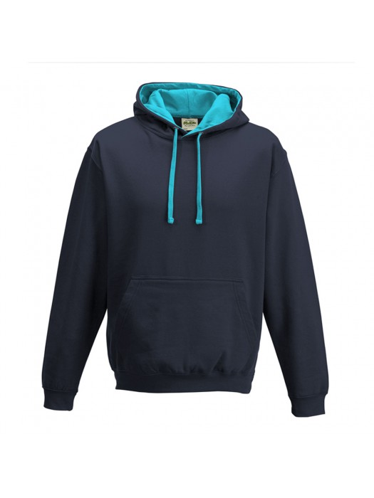 contrast Oxford Navy/ Hawaiian Blue Hoodie