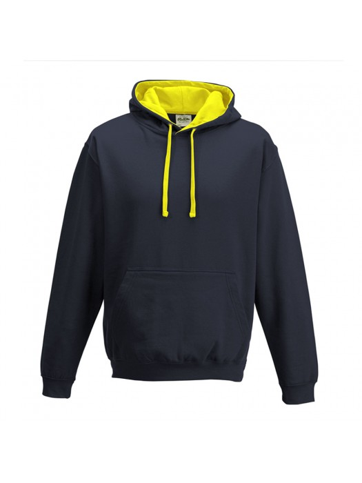 contrast Oxford Navy/ Sun Yellow Hoodie