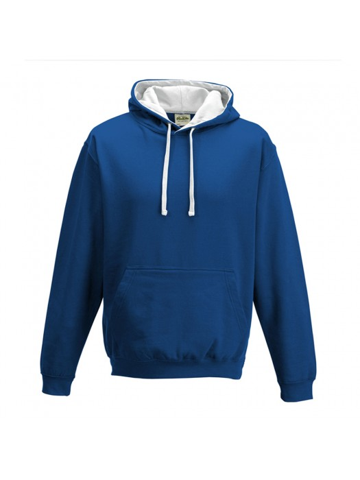 contrast Royal Blue/ Arctic White Hoodie