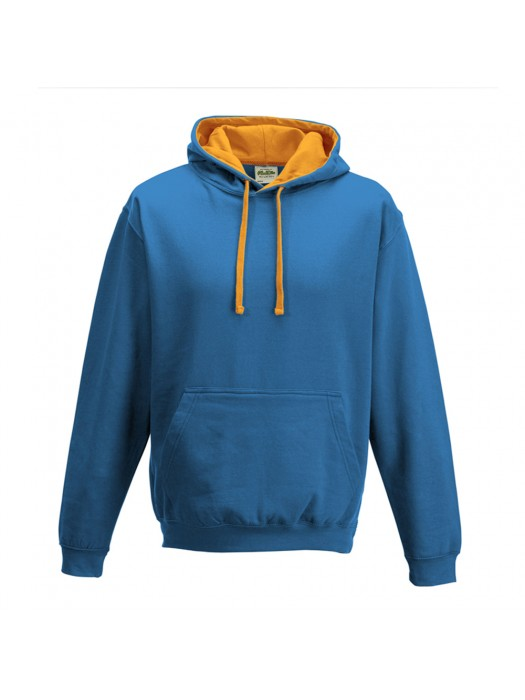 contrast Sapphire Blue/ Orange Crush Hoodie