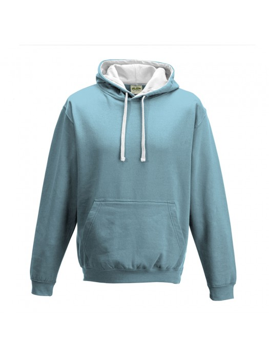contrast Sky/ Arctic White Hoodie