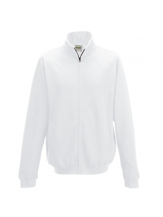 AWD White Adult Fresher varsity full zip sweatshirt