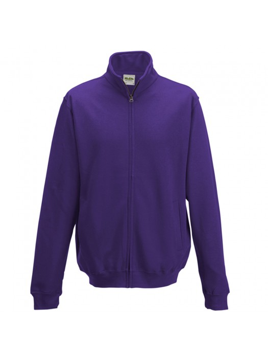 AWD Purple Adult Fresher varsity full zip sweatshirt