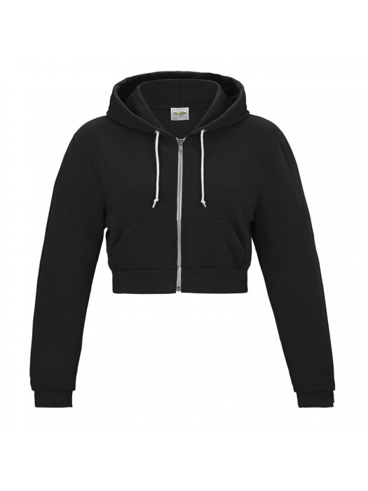 Black Crop top AWD Zip Hoodie