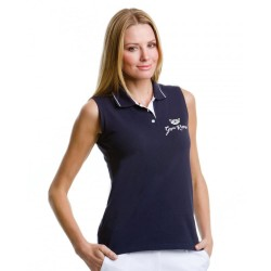 Gym Wear Polo Shirt Women's Gamegear® proactive sleeveless  Gym Kitty Fitness Training, Yoga