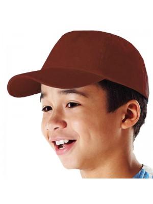 Plain Chocolate Kids Baseball Cap, Children Chocolate Caps