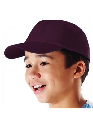 Plain Burgundy Kids Baseball Cap, Children Burgundy Caps