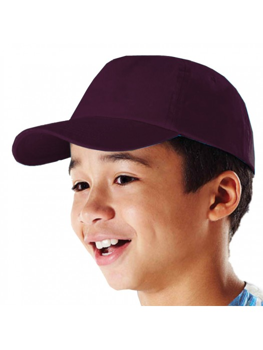 Plain Burgundy Kids Baseball Cap, Children Burgundy Caps
