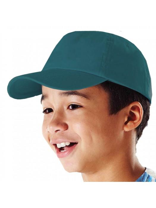 Plain Emerald Kids Baseball Cap, Children Emerald Caps