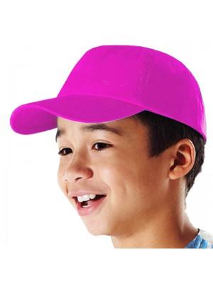 Plain Fuchsia Kids Baseball Cap, Children Fuchsia Caps