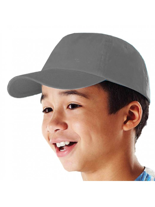 Plain Graphite Grey Kids Baseball Cap, Children Graphite Grey Caps
