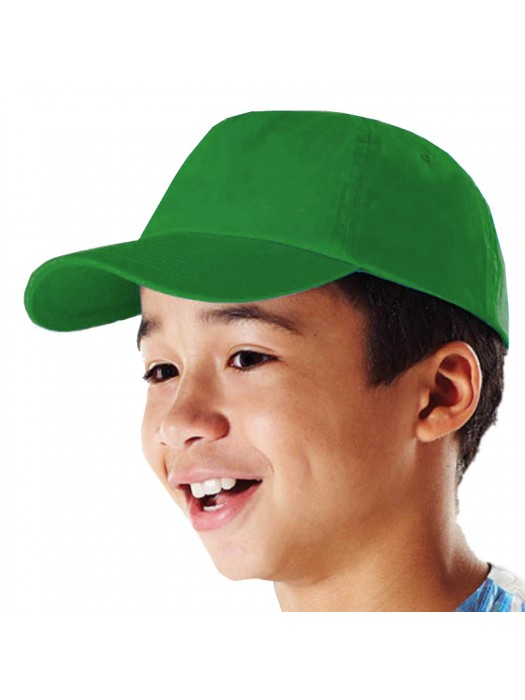 Plain Kelly Kids Baseball Cap Kelly Caps