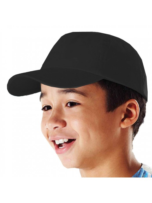 Plain Black Kids Baseball Cap, Children Black Caps