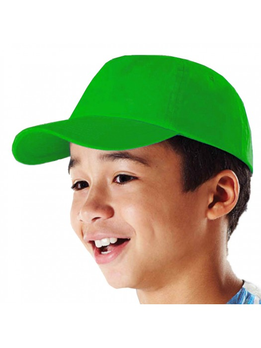 Plain Lime Green Kids Baseball Cap, Children Lime Green Caps