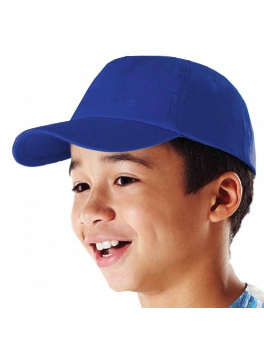 Plain Bright Royal Kids Baseball Cap, Children Bright Royal Caps