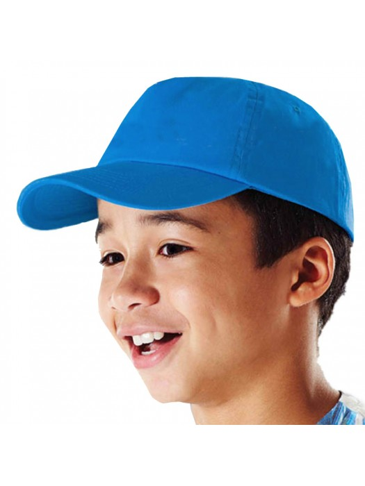 Plain Surf Blue Kids Baseball Cap, Children Surf Blue Caps