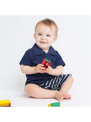 Plain BABY/TODDLER POLO SHIRT LARKWOOD 200 GSM