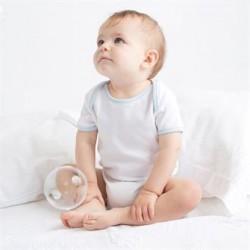 Plain CONTRAST BABY BODYSUIT LARKWOOD 200 GSM