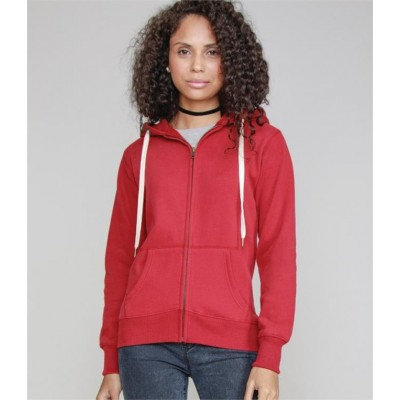 Plain BY MANTIS LADIES FULL ZIP HOODIE SUPERSTAR 330 GSM