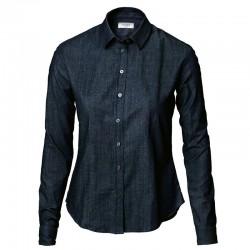 Plain Women's Torrance denim shirt NIMBUS 175 GSM