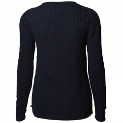 Plain Women's Winston cable knit jumper NIMBUS
