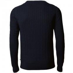 Plain Mens Winston cable knit jumper NIMBUS