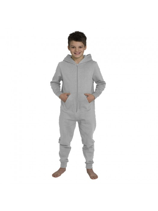 Plain Kids Heather Grey Comfy Co Onesie