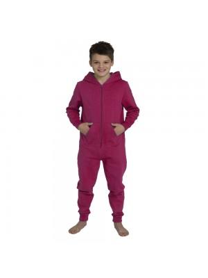Plain Kids Hot Pink Comfy Co Onesie
