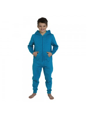 Plain Kids Sapphire Blue Comfy Co Onesie