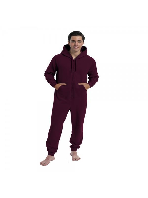 Plain burgundy onesie mens and ladies burgundy onesies for Mens dress shirt onesie