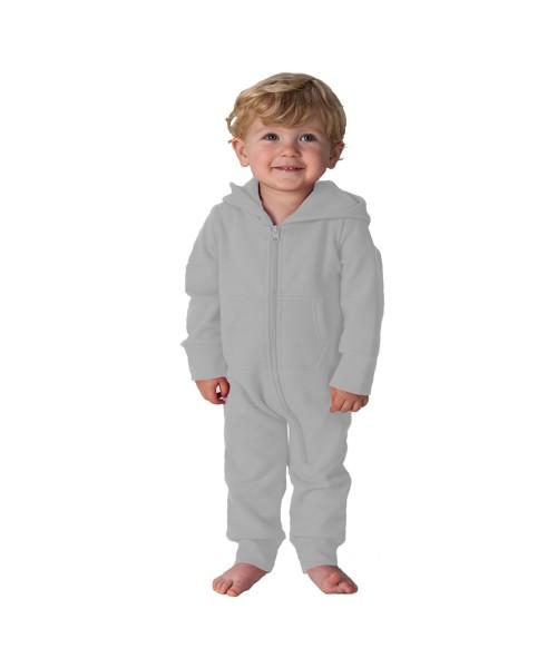 Plain Todddler Heather Grey Comfy Co Baby Onesie