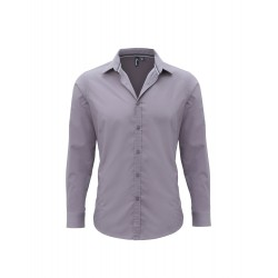 Plain Long sleeve fitted 'Friday' SHIRT PREMIER 105 GSM