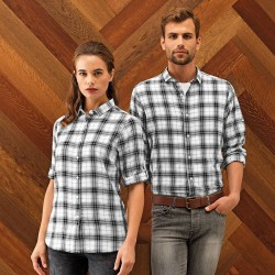 Plain Ginmill check cotton long sleeve SHIRT PREMIER 115 GSM