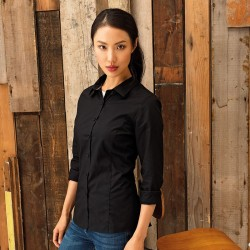 Plain LADIES LONG SLEEVE FITTED FRIDAY SHIRT PREMIER 105 GSM