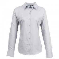Plain Women's signature Oxford long sleeve shirt PREMIER 135 GSM
