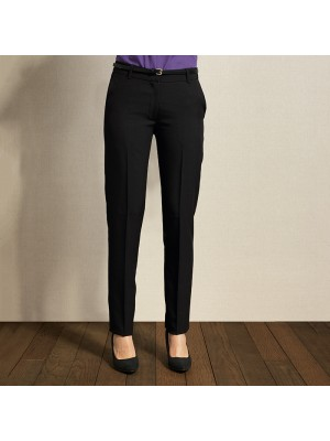 Plain Women's tapered fit polyester Trouser PREMIER 185 GSM