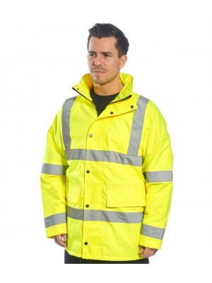 Plain HI-VIS 4-IN-1 TRAFFIC JACKET PORTWEST