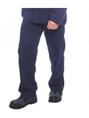Plain BIZWELD FLAME RESISTANT TROUSERS PORTWEST 330 GSM