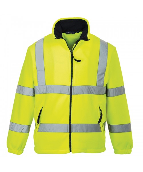 Plain Lined Hi-Vis Mesh Lined Fleece Portwest 300 GSM