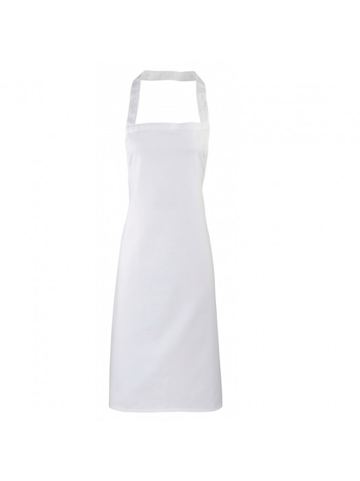 Plain White Long Apron