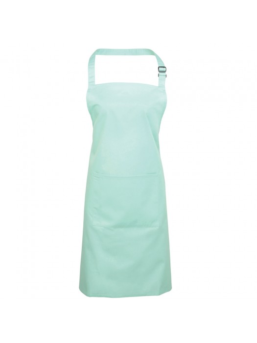 Plain Aqua Long Apron