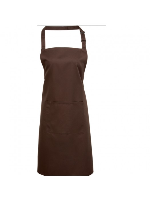 Plain Brown Long Apron