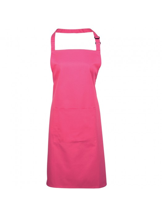 Plain Hot Pink Long Apron
