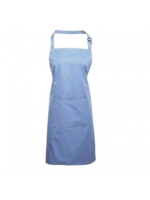 Plain Mid Blue Long Apron