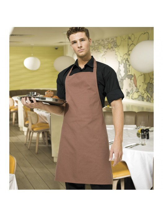 Plain Mocha Long Apron
